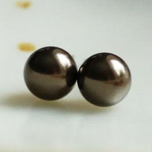 【送料無料】アクセサリー ネックレス ダークブラウンピンチタン6mm sc perle circa scuro marrone a perno titanio