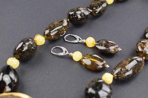 【送料無料】アクセサリー ネックレス バルトネックレスイヤリングオレンジセットbaltic amber collana e orecchini set univoco ambra regalo per lei fatte a mano