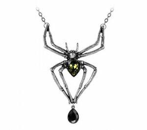 【送料無料】アクセサリー ネックレス ゴシックペンダントエメラルドクモネックレスalchemy gothic ciondolo smeraldo venom spider donna alternativa collana regalo