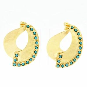 【送料無料】アクセサリー ネックレス ストーンハンドメイドターコイズイヤリングaylas placcato oro semi preziosi gem stone turchese handmade earrings