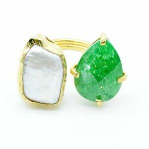 【送料無料】アクセサリー ネックレス オスマンストーンジルコンパールゴールドリングaylas ottomano semi preziosi gem stone zircone amp; perla anello doro