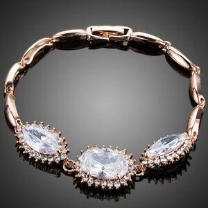 【送料無料】アクセサリー ネックレス ブレスレットチェーンリンクbianco zirconi bracciale catena di collegamento per le donne signore ragazze mbr0133