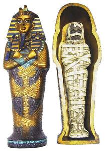 【送料無料】アクセサリー ネックレス エジプトミイラsarcofago con mummia egiziana idea regalo colore dorato blu