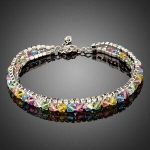 【送料無料】アクセサリー ネックレス カールマルチカラーロブスターブレスレットmulti colored aragosta braccialetto di cristallo per le donne signore ragazze kf0165