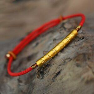 【送料無料】アクセサリー ネックレス スターリングシルバーゴールドカラーハンドメイドブレスレット999 sterling silver gold color handmade thin red string bracelet for women si
