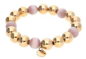【送料無料】アクセサリー ネックレス ステンレススチールピンクゴールドピンクエスプリブレスレットesprit donna bracciale in acciaio inox oro rosarosa spheres esbr 11662b160