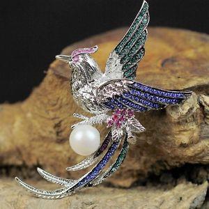 【送料無料】アクセサリー ネックレス ローズヴィンテージブレードオリジナルbroche et pendantif argent phnix perle de culture rose pale vintage original