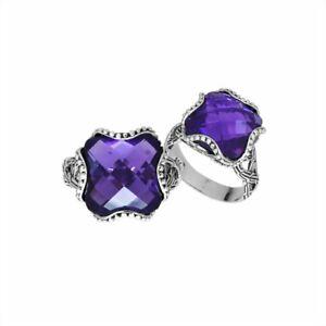 【送料無料】アクセサリー ネックレス クッションアメジストリングar6183am9 argento sterling cuscino forma anello con ametista