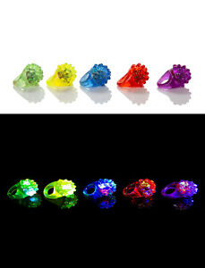 【送料無料】アクセサリー ネックレス ゼラチンリンググロー36 x accidentato intermittenti led gelatina anelli si illumina dito glow toy