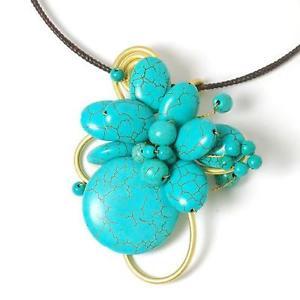 【送料無料】アクセサリー ネックレス カラーゴールドビーズネックレスペンダントpeace of mind fiore saltellanti bluverde amp; color oro perlina girocollo ciondolo