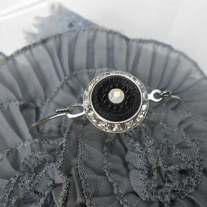 【送料無料】アクセサリー ネックレス ブレスレットクリスタルオパールカボションノワールfin bracelet jonc argent strass cristal amp; opale cabochon ancien noir incrust
