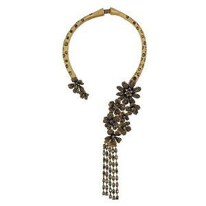 【送料無料】アクセサリー ネックレス コリアーラスデュコートタッセルフリンジクリスタルバロックオリジナルcollier ras du cou rigid tassel fringe fleur cristal gris baroque original osc 6