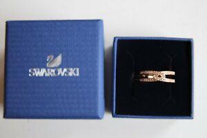 【送料無料】アクセサリー ネックレス スワロフスキークリスタルローズゴールドメッキリングサイズswarovski crystal rose ゴールド plated creativit anello taglia 5058
