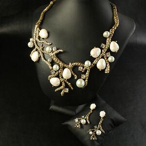 【送料無料】アクセサリー ネックレス バロックバックオリジナルparure collier boucles doreilles branche perle baroque retro original b1 osc 3