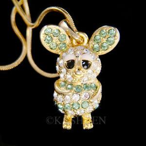 【送料無料】アクセサリー ネックレス マウスラットハムスタースナネズミチンチラスワロフスキークリスタルゴールドmouse rat criceto gerbillo chinchilla fatto con swarovski cristallo oro tn