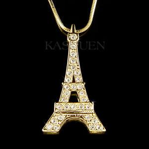 【送料無料】アクセサリー ネックレス エッフェルスワロフスキークリスタルパリ~ torre eiffel fatto con swarovski cristallo paris france souvenir vacanza