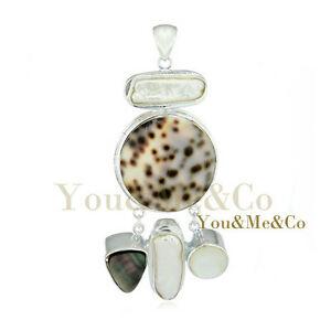 【送料無料】アクセサリー ネックレス スターリングシルバーペンダントモップアワビnaturale mop abalone madreperla argento sterling 925 ciondolo