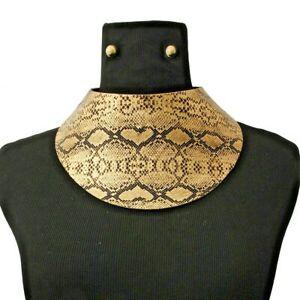 【送料無料】アクセサリー ネックレス カーブネックレスチョーカーブレスレットセットブティックホテルluxe dichiarazione oro curvo pelle di serpente collana girocollo bracciale set rocce boutiqu