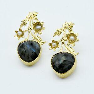 【送料無料】アクセサリー ネックレス オスマンaylas ottomano placcato oro labradorite semi preziosi gem stone fatto a mano