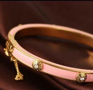【送料無料】アクセサリー ネックレス ピンクゴールドエナメルブレスレットrosa e oro smalto braccialetto