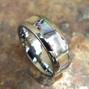 【送料無料】アクセサリー ネックレス ハワイタングステンリングhawaiano tungsteno aliotide intarsio smussato anello di matrimonio 8mm tur1010