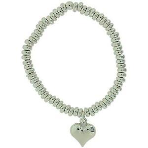 【送料無料】アクセサリー ネックレス カフtoc ragazze argento sterling charm cuore bracciale elasticizzato tesoro 5