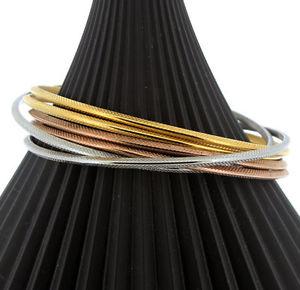 【送料無料】アクセサリー ネックレス ステンレススチールレリーフブレスレットセットacciaio inossidabile restringere sei braccialetto set in rilievo