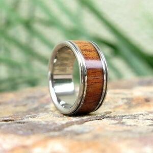 【送料無料】アクセサリー ネックレス ハワイチタンリングoriginale spesso hawaiano koa legno intarsio titanio anello di matrimonio 8mm