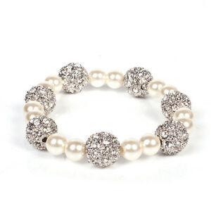 【送料無料】アクセサリー ネックレス ロンドンパールブレスレットストレッチブランドファッションmikey london pearl amp; crystal ball bracciale stretch, onorevoli colleghe, brand fashion