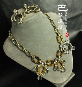【送料無料】アクセサリー ネックレス クリスタルモチーフparure collier boucles doreilles croix cristal motif ecaille tortue jcr14