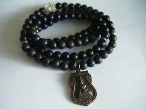 【送料無料】アクセサリー ネックレス ビンテージビーズミュンヘンベネディクトアガタvintage spirituale buddha amuleto 108 perline 32 lungo mala monaco benedetto agatalava