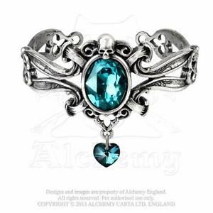 【送料無料】アクセサリー ネックレス ゴシックブレスレットピューターalchemy gothic la dogaressas last love bracciale peltro cristallo blu a104