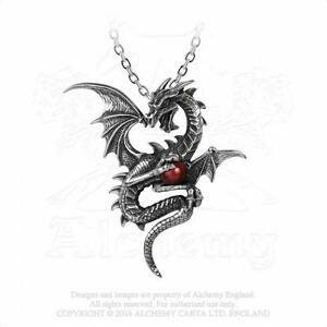 【送料無料】アクセサリー ネックレス ゴシックピューターレッドドラゴンオーブペンダントネックレスalchemy gothic peltro aethera draconem dragon rosso orb ciondolo collana p756