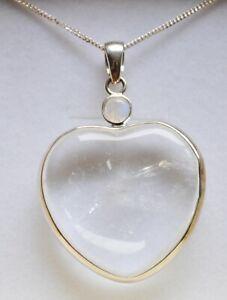 【送料無料】アクセサリー ネックレス クリアボックスネックレスペンダントgrande argento quarzo chiaro amp; moonstonegemstone collana con pendente cuore in confezione regalo