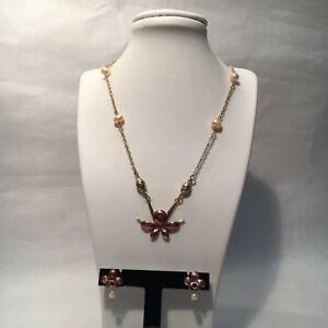 【送料無料】アクセサリー ネックレス ピンクゴールドネックレスチョーカーロータスイヤリングi tempi passati color oro rosa collana girocollo lotus con perle amp; orecchini