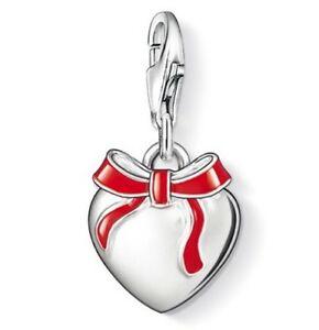 【送料無料】アクセサリー ネックレス スターリングシルバーブランドトーマスargento sterling nuovo di zecca thomas sabo fiocco rosso cuore charm 0815 rrp 5000
