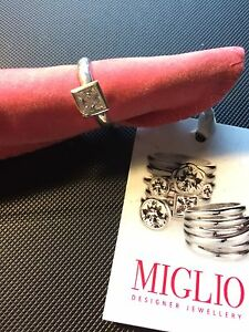 【送料無料】アクセサリー ネックレス マイルリングスワロフスキークリスタルanello di argento sterling miglio con cristallo swarovski quadrato