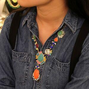 【送料無料】アクセサリー ネックレス ロングネックレスオレンジcollana lunga donna asymmetry arancione verde blu originale matrimonio jcr 3