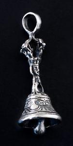 【送料無料】アクセサリー ネックレス チベットペンダントベルソリッドシルバーkciondolo tibetano campana vajra rituale buddista argento massiccio 925 k39a
