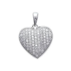 【送料無料】アクセサリー ネックレス アルジェントジルコニウムヌフpendentif coeur en argent 925000 rhodi et oxydes zirconium neuf