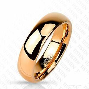 【送料無料】アクセサリー ネックレス チタンリングピンクゴールドaf titanio wolfram anello oro rosa 6 mm larghezza lucido 47 15 66 21