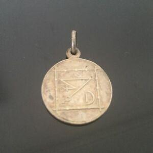 【送料無料】アクセサリー ネックレス フランアンティークメダルpendentif ancien franc maconnerie en mtal argent antique medal