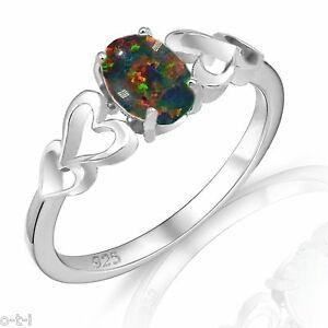 【送料無料】アクセサリー ネックレス カットオパールtaglio ovale promessa fidanzamento nero opale di fuoco love quattro cuore