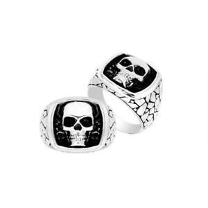 【送料無料】アクセサリー ネックレス スターリングシルバーデザイナーリングスカルシンプルシルバーargento sterling designer anello teschio con semplice argento ar9003s10