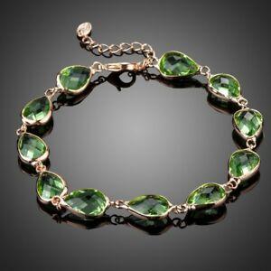 【送料無料】アクセサリー ネックレス ロイヤルデザイングリーンブレスレットチェーンroyal verde pera bracciale catena di design per le donne signore ragazze kb0158