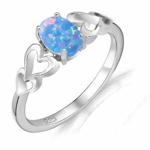 【送料無料】アクセサリー ネックレス オパールovale promessa fidanzamento azzurro opale di fuoco quattro cuore