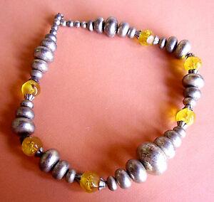 【送料無料】アクセサリー ネックレス コリアー1315  collier resine vieillie et resine jaune