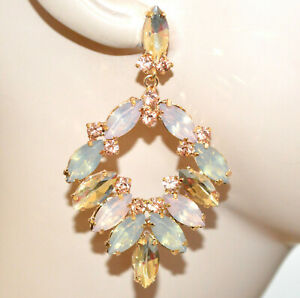 【送料無料】アクセサリー ネックレス イヤリングオレンジゴールドラインストーンペンダントorecchini cristalli ambra cipria ghiaccio oro donna strass gocce pendenti bb7