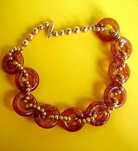ネックレス 【送料無料】アクセサリー et collier アンブル686 ambre resine doree couleur