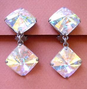 【送料無料】アクセサリー ネックレス クリップ1082 boucles doreille clips verre irise